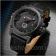 Мужские наручные часы Naviforce Plaza Black NF9099, фото 2