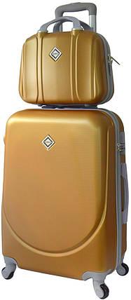Комплект чемодан и кейс Bonro Smile средний золотой (10110208), фото 2