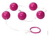 Анальные Шарики 5шт. в одной цепочке увеличивают оргазм Розовые Orgasm Balls Purple