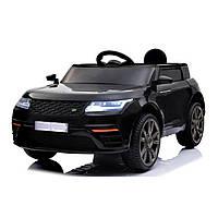 Детский электромобиль черный Джип колеса EVA с пультом мотор 2*20W длина 112см с МР3 детям 3-8 лет