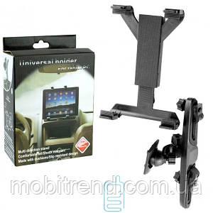 Держатель для планшета в авто 7-14″ Tablet PC на подголовник черный