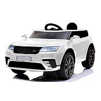 Детский электромобиль белый Джип T-7834 EVA WHITE с пультом мотор 2*20W аккумулятор 12V4.5AH деткам 3-8 лет