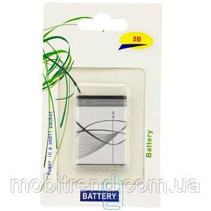 Аккумулятор Nokia BL-5B 870 mAh 2600, 7510, N75 A класс