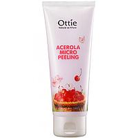 Пилинг-скатка c экстрактом вишни Ottie Acerola Micro Peeling, фото 1