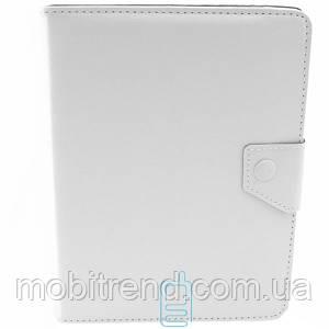 Чехол-книжка 8 дюймов уголки-магнит NEW белый