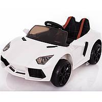 Электромобиль спорткар белый Т-753 EVA WHITE для деток 3-8 лет с пультом мотор 2*15W, аккумулятор 12V4.5AH