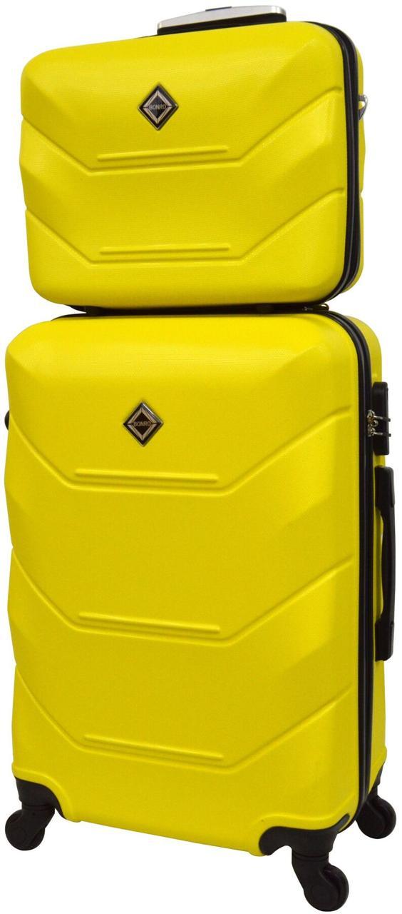 Комплект чемодан и кейс Bonro 2019 маленький желтый (10501000)
