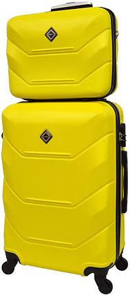 Комплект чемодан и кейс Bonro 2019 маленький желтый (10501000), фото 2