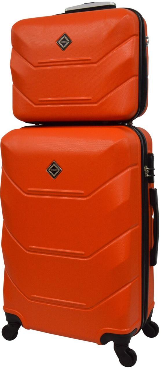 Комплект чемодан и кейс Bonro 2019 маленький оранжевый (10501001)