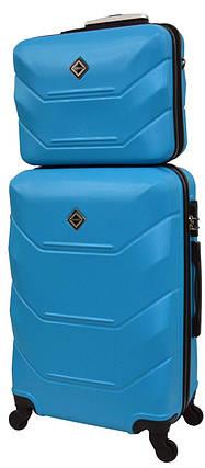 Комплект чемодан и кейс Bonro 2019 маленький голубой (10501003), фото 2