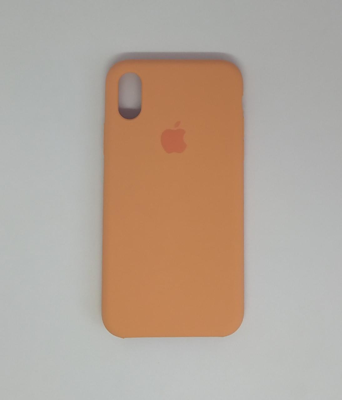 "Чехол - Silicon Case для iPhone ""Абрикосовый - №42"" - copy orig."