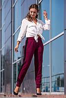 Жіночі вязані штани з лампасами.Р-ри 44-48, фото 1
