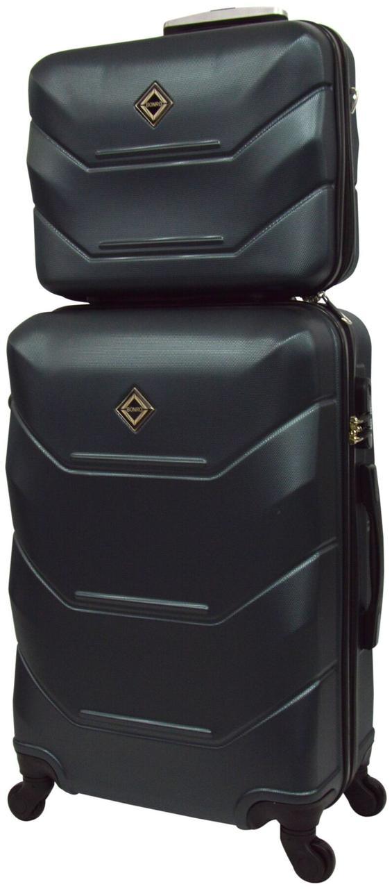 Комплект чемодан и кейс Bonro 2019 большой изумрудный  (10501209)