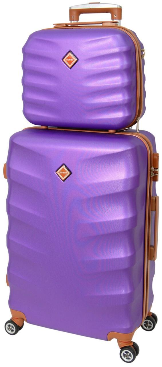 Комплект чемодан и кейс Bonro Next маленький фиолетовый (10066703)