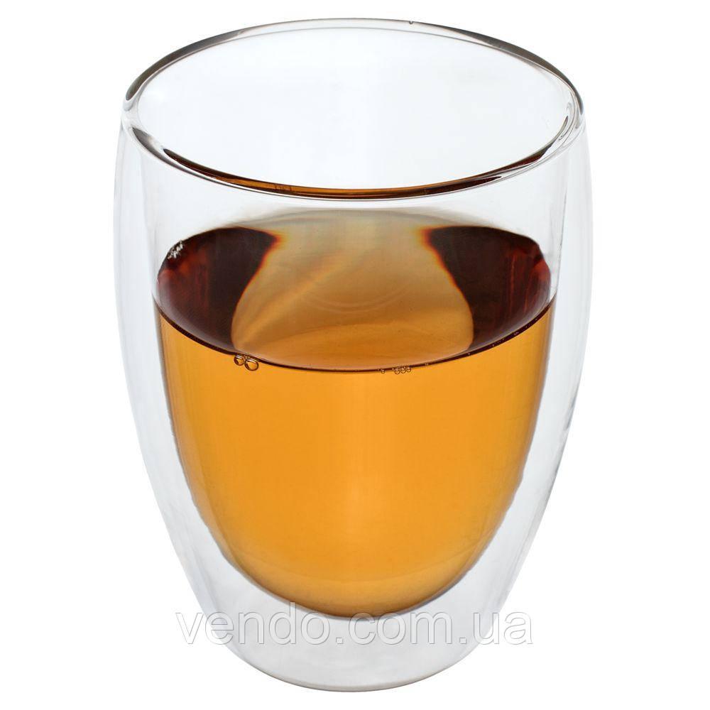 """Пиала/ термо чашка стеклянная с двойными стенками """"Гейша"""" 300 мл."""
