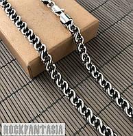 Серебряная мужская цепочка бисмарк витой распродажа, фото 1