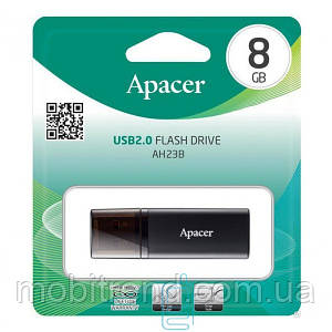 USB Флешка 8GB Apacer AH23B черная