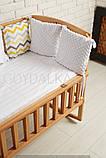 """Ліжечко """"AMELI Амелі"""" з відкидною боковиною, дугами і колесами (600 * 1200) (БУК), ліжко для новонароджених, фото 2"""