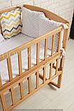 """Ліжечко """"AMELI Амелі"""" з відкидною боковиною, дугами і колесами (600 * 1200) (БУК), ліжко для новонароджених, фото 3"""