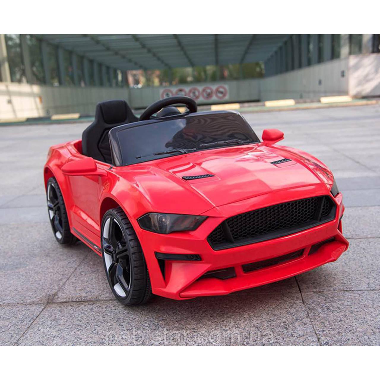 Электромобиль-спорткар красный T-7625 EVA RED для деток 3-8 лет с пультом мотор 2*15W с MP3