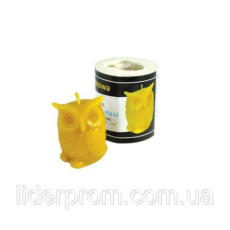 """Форма силиконовая   для изготовления свечей """"Сова """" LYSON Польша, фото 2"""