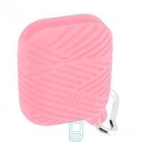 Футляр для наушников Airpod Braids розовый