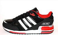 Кроссовки Adidas ZX 750 (Black & Red)