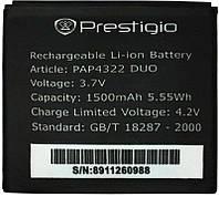 Аккумулятор Prestigio MultiPhone 4322 Duo / PAP4322 DUO (1450-1500 mAh) Original