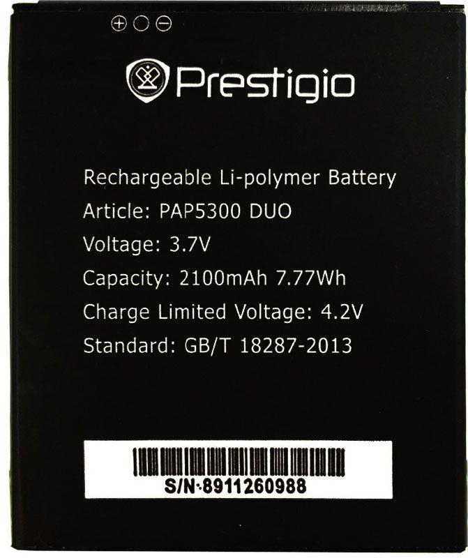 Аккумулятор Prestigio MultiPhone 5300 Duo / PAP5300 DUO (2100 mAh) Original, фото 1