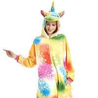 Пижама кигуруми Взрослые и Детские Единорог цветной