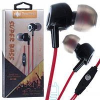 Наушники с микрофоном Deepbass D153 красные