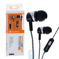Наушники с микрофоном Deepbass EX-500 черно-серебристые