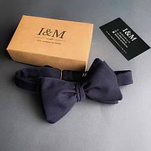 Галстук-бабочка I&M Craft самовяз темно-синий (010101)