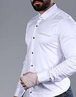 Стильная белая мужская рубашка с длинным рукавом-трансформером, из Турции