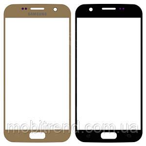 Стекло корпуса Samsung G930F Galaxy S7 gold orig
