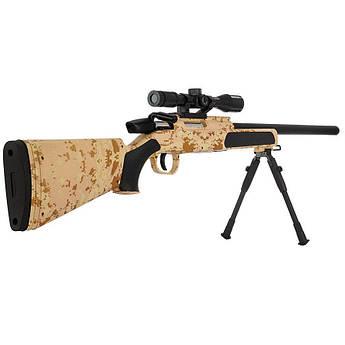 Винтовка снайперская CYMA ZM51C металл+пластик (цевьё и приклад камуфляж пустыня)