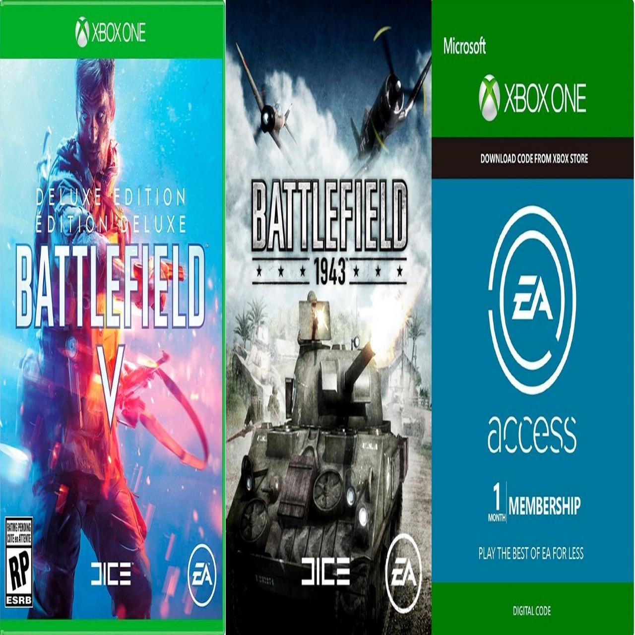 Battlefield V Deluxe Edition+ Battlefield 1943+ EA Access XBox One  RUS XBOX ONE (Код)
