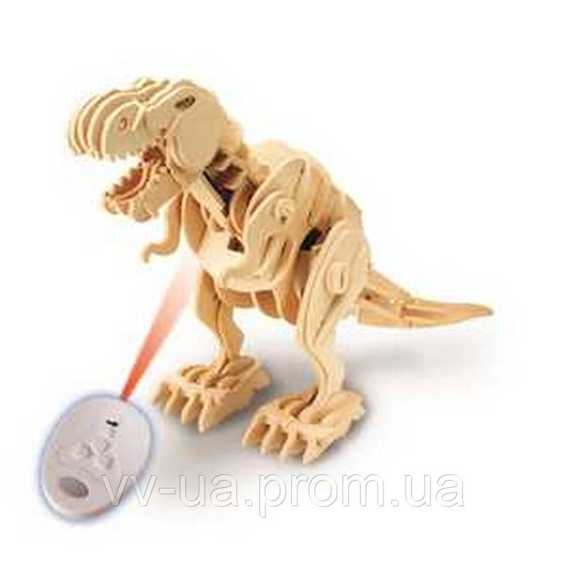 Деревянный 3D конструктор RoboTime динозавр-робот T-Рекс на радиоуправлении (D200)