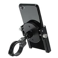 Кріплення телефона на руль мото ( холдер для телефона) метал, чорний, тримач телефону