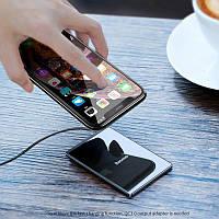 Беспроводная зарядка для телефонов 15W с кабелем USB 1 м Baseus Card Ultra-Thin (WX01B-01)