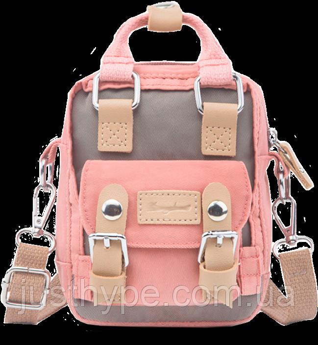 Мини рюкзак - сумочка Doughnut розовый