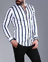 Стильная мужская рубашка с длинным рукавом-трансформером, из Турции