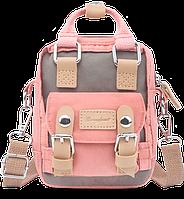 Мини рюкзак - сумочка Doughnut розовый, фото 1