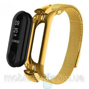 Ремешок Xiaomi Mi Band 3 Milanese Loop Gold золотистый