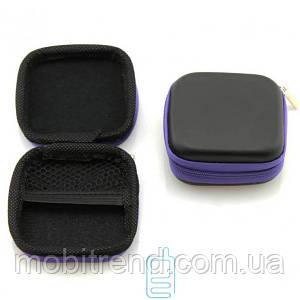 Футляр для наушников Dr.Dre Tour квадратный черно-фиолетовый