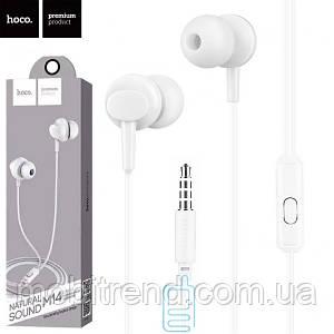 Наушники с микрофоном Hoco M14 белые