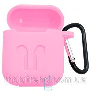 Футляр для наушников Airpod Full Case розовый