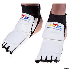 Защита стопы таеквондо (носки) WTF белая  L