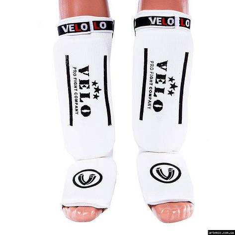 Защита ноги Velo, х/б, эластан, белый, липучка, размер S, M, L, XL, фото 2