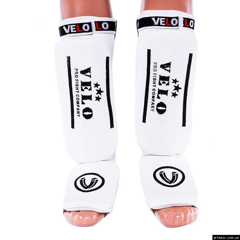 Защита ноги Velo, х/б, эластан, белый, липучка, размер S, M, L, XL